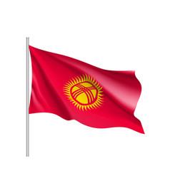 National flag of kyrgyzstan republic vector