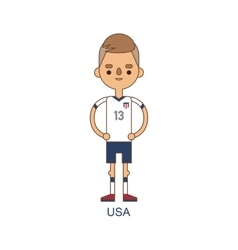 National usa soccer football player vector