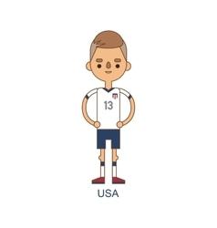 National usa soccer football player vector