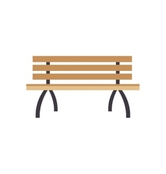 park bench icon vector image vector image