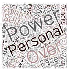 Personal power text background wordcloud concept vector