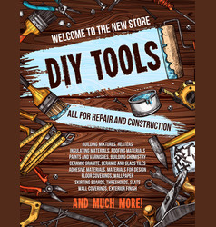 repair tool on wooden background banner design vector image vector image