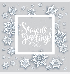 snow holiday frame vector image vector image