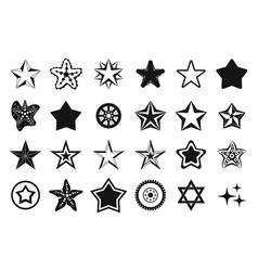 stars icon set simple style vector image