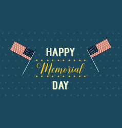 Style banner for memorial day theme vector