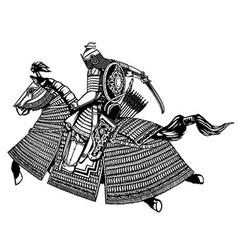 Tatar warrior vector image