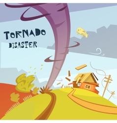 Tornado disaster vector