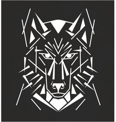 tribal wolf tatoo vector image