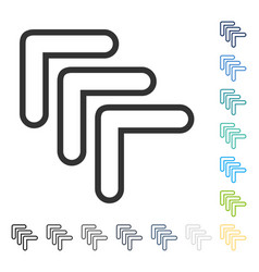 Triple pointer left up icon vector
