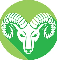 Ram head icon vector