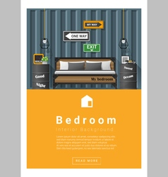 Interior design modern bedroom banner 6 vector
