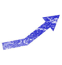 Growth trend grunge textured icon vector