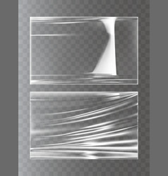 a plastic wrapping stretch vector image