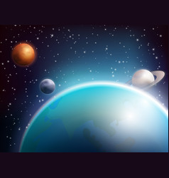 Colored space background vector