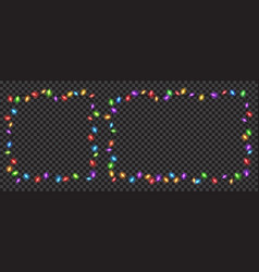 christmas translucent fairy lights vector image