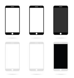 Mobile phone modern technology set vector