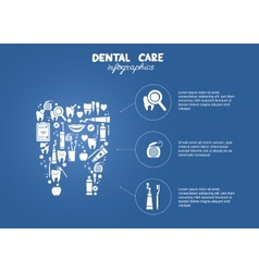 Dental care simple infographics vector
