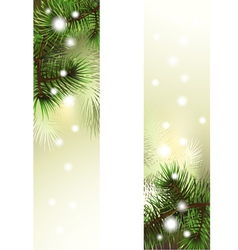 Christmas green banner vector