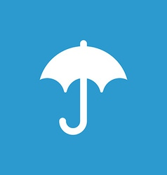 Umbrella icon white on the blue background vector