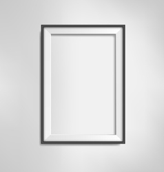 Black frame on grayscale background vector