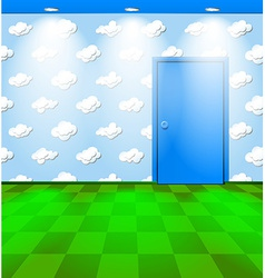 Eco themed room with door vector