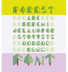 Forest font vector
