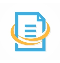 Document file logo or icon vector