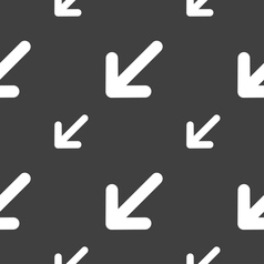 Turn to full screenicon sign seamless pattern on a vector