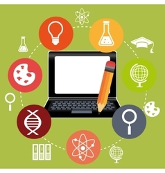 Electronic education or e-learning vector