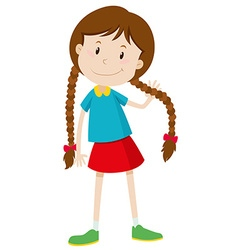 Little girl with long hair vector