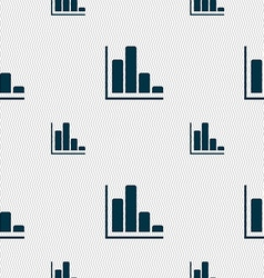 Infographic icon sign seamless pattern with vector