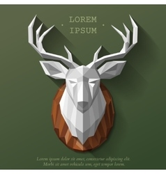 Poly deer head vector