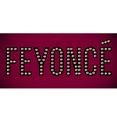 Feyonce title vector