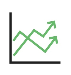 Multiple line graph vector