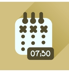 Flat icon with long shadow diary business vector