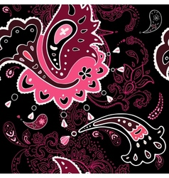 Paisley ornament seamless background vector