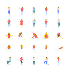 A icons pack of people in flat design vector