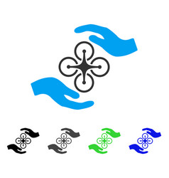 Air copter care hands flat icon vector
