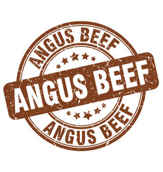 Angus beef stamp vector
