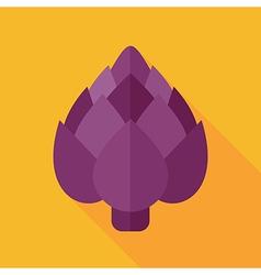 Artichoke flat icon Vegetable vector image vector image