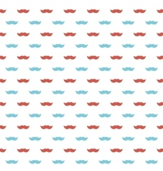 Background with red and blue mustaches vector image vector image