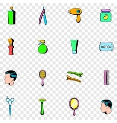 Barber shop set icons vector image