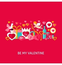 Be my valentine greeting concept vector