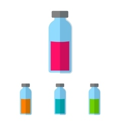 Bottle with colored liquid vector