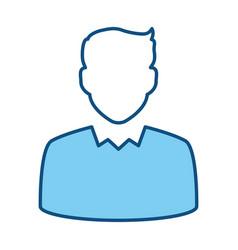 Businessman profile avatar vector