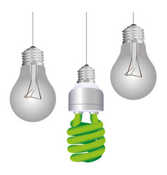Colorful silhouette with pendant light bulbs and vector