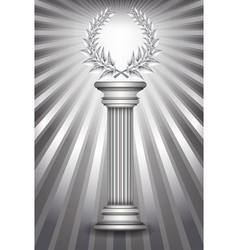 Column laurel silver vector image