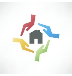 Concept of safe house vector