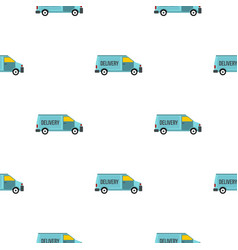 Delivery van pattern flat vector