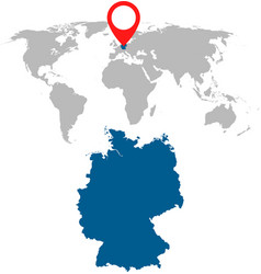 Detailed map of germany and world map navigation vector